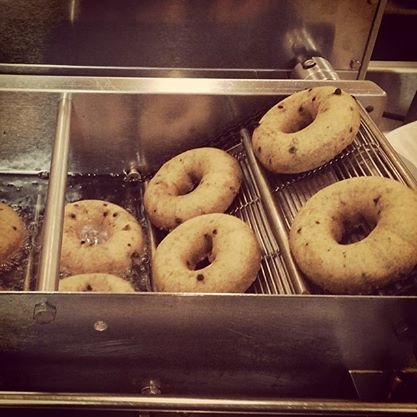 Fresh Donuts Frying